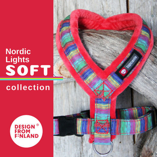 Nordic lights- harness Soft (red  25 cm)