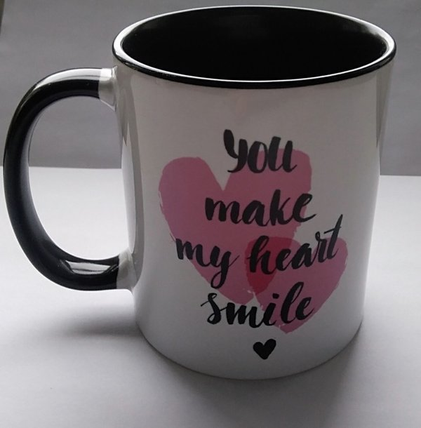 You make my heart smile- mug